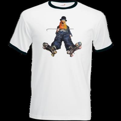 Motiv: T-Shirt Ringer - Vogelmenschen - Chaplinfink