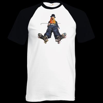Motiv: TShirt Baseball - Vogelmenschen - Chaplinfink