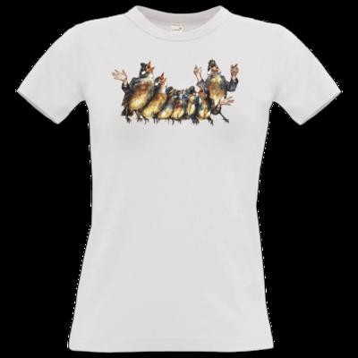 Motiv: T-Shirt Damen Premium FAIR WEAR - Vogelmenschen - Chor