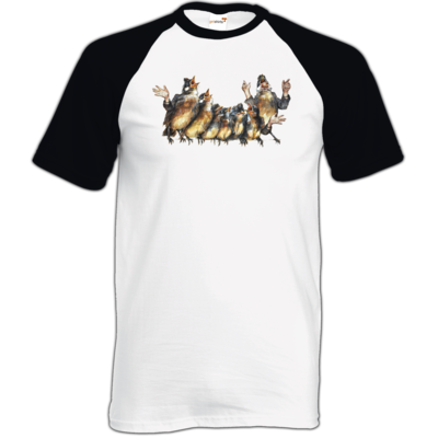 Motiv: TShirt Baseball - Vogelmenschen - Chor