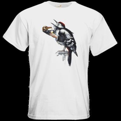 Motiv: T-Shirt Premium FAIR WEAR - Vogelmenschen - Schluckspecht