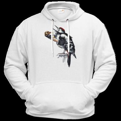 Motiv: Hoodie Premium FAIR WEAR - Vogelmenschen - Schluckspecht