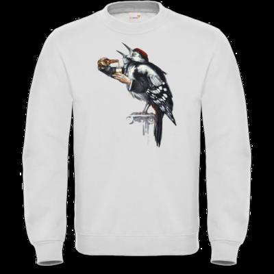 Motiv: Sweatshirt FAIR WEAR - Vogelmenschen - Schluckspecht