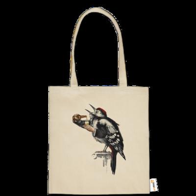 Motiv: Baumwolltasche - Vogelmenschen - Schluckspecht