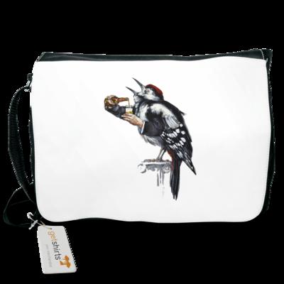 Motiv: Schultertasche - Vogelmenschen - Schluckspecht