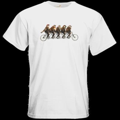 Motiv: T-Shirt Premium FAIR WEAR - Vogelmenschen - Spatzentandem