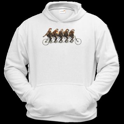 Motiv: Hoodie Classic - Vogelmenschen - Spatzentandem