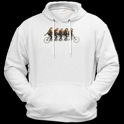 Motiv: Hoodie Premium FAIR WEAR - Vogelmenschen - Spatzentandem