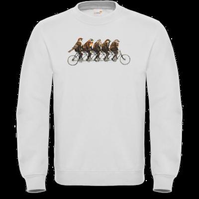 Motiv: Sweatshirt FAIR WEAR - Vogelmenschen - Spatzentandem