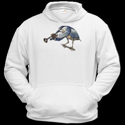 Motiv: Hoodie Classic - Vogelmenschen - Satchmo-Reiher
