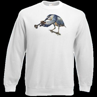Motiv: Sweatshirt Classic - Vogelmenschen - Satchmo-Reiher