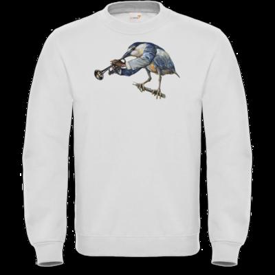 Motiv: Sweatshirt FAIR WEAR - Vogelmenschen - Satchmo-Reiher