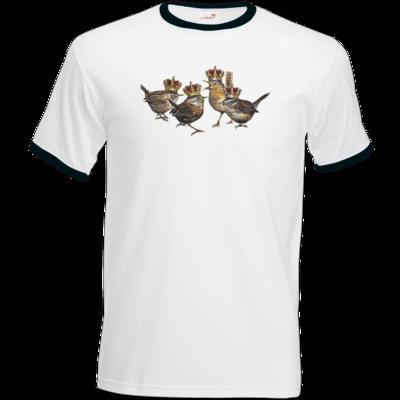 Motiv: T-Shirt Ringer - Vogelmenschen - Quatuor Coronati