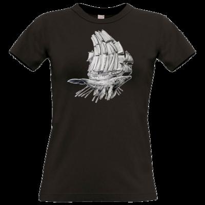 Motiv: T-Shirt Damen Premium FAIR WEAR - Sea Shepherd Support - Buchwal