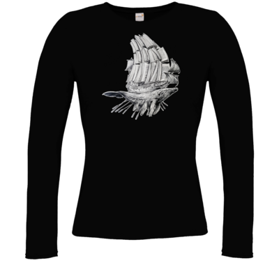 Motiv: Longsleeve Damen FAIR WEAR - Sea Shepherd Support - Buchwal