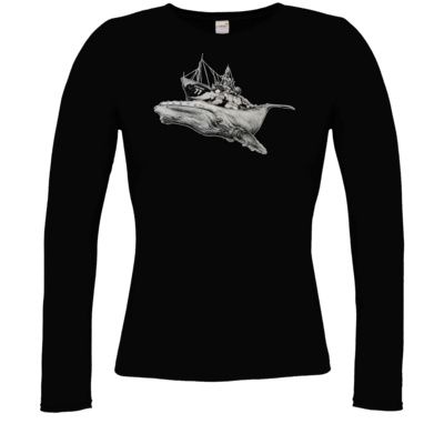 Motiv: Longsleeve Damen FAIR WEAR - Sea Shepherd Support - Steve Irwin