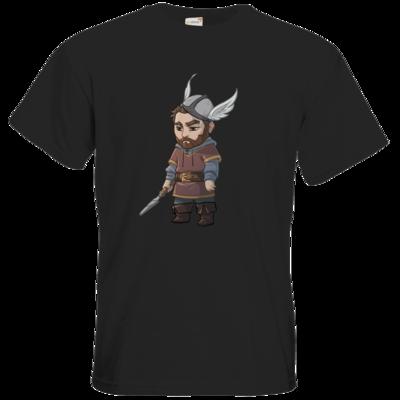 Motiv: T-Shirt Premium FAIR WEAR - Let's Plays - Nubor der Schildlose - Chibi