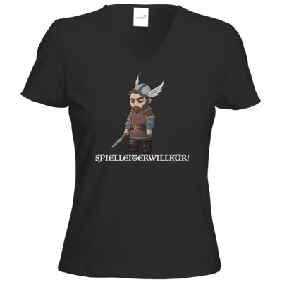 Motiv: T-Shirt Damen V-Neck Classic - Let's Plays - Nubor Spielleiterwillkür - Chibi