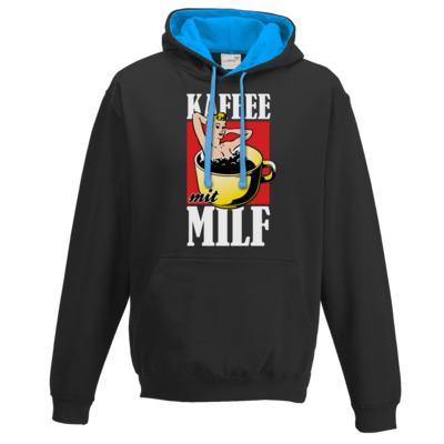 Motiv: Two-Tone Hoodie - Kaffee mit MILF