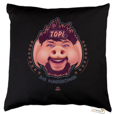 Motiv: Kissen Baumwolle - TOPI Wunderschwein