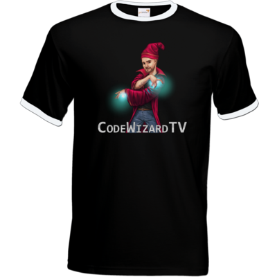 Motiv: T-Shirt Ringer - CodeWizardTV - The Wizard