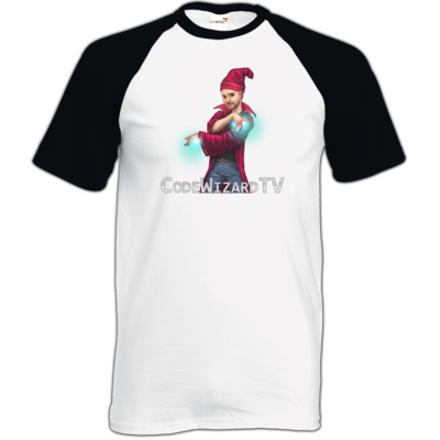 Motiv: TShirt Baseball - CodeWizardTV - The Wizard