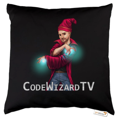 Motiv: Kissen Baumwolle - CodeWizardTV - The Wizard