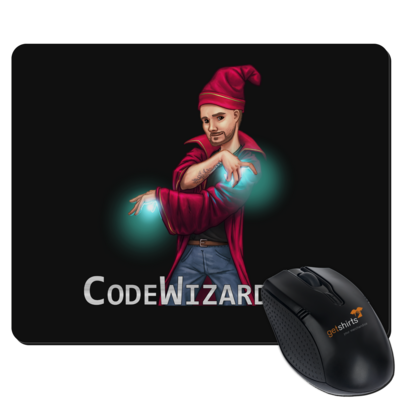 Motiv: Mousepad Textil - CodeWizardTV - The Wizard