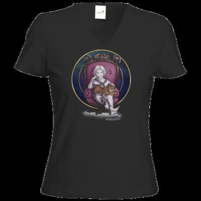 Motiv: T-Shirt Damen V-Neck Classic - Götter und Dämonen - Namenloser - Chibi