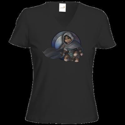 Motiv: T-Shirt Damen V-Neck Classic - Götter - Phex - Chibi