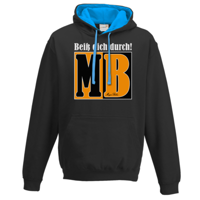 Motiv: Two-Tone Hoodie - Beiss dich durch