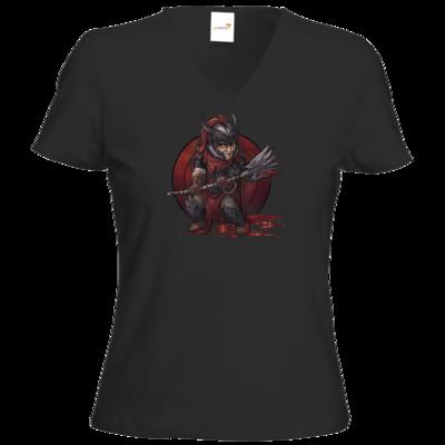 Motiv: T-Shirt Damen V-Neck Classic - Götter - Kor - Chibi