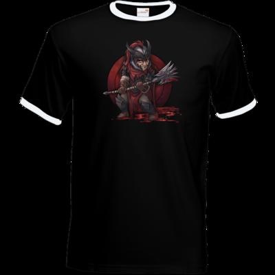 Motiv: T-Shirt Ringer - Götter - Kor - Chibi