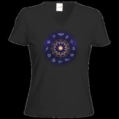 Motiv: T-Shirt Damen V-Neck Classic - Götter - Zwölfgötterkreis
