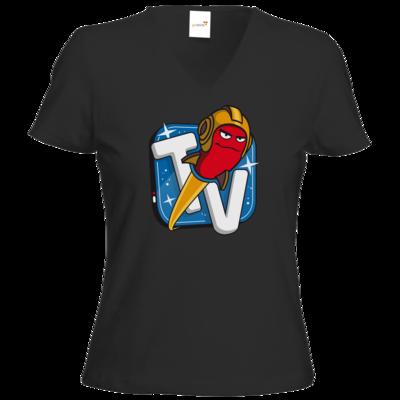 Motiv: T-Shirts Damen V-Neck FAIR WEAR - Senderlogo