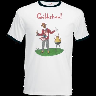 Motiv: T-Shirt Ringer - Grillshow!