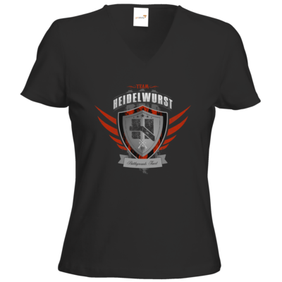 Motiv: T-Shirts Damen V-Neck FAIR WEAR - Team Heidelwurst
