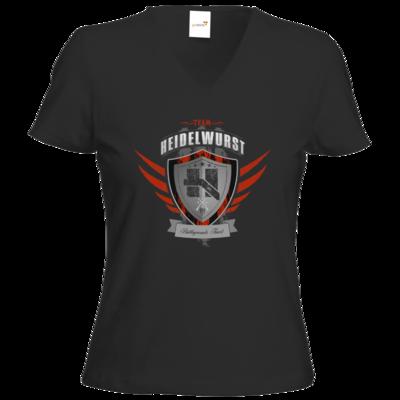 Motiv: T-Shirts Damen V-Neck FAIR WEAR - Team Heidelwurst