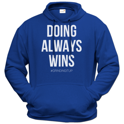 Motiv: Hoodie Premium FAIR WEAR - grindingitup - doing always wins