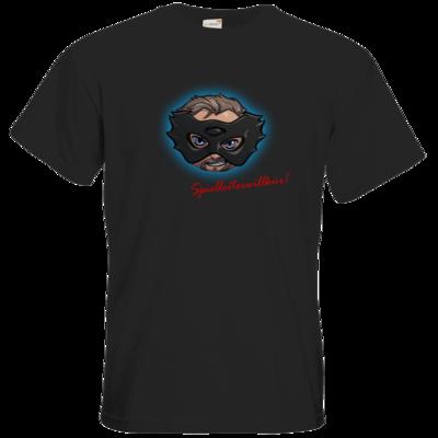 Motiv: T-Shirt Premium FAIR WEAR - Let's Plays - Das Buch der Macht - Chibi - glow