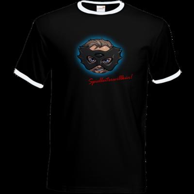 Motiv: T-Shirt Ringer - Let's Plays - Das Buch der Macht - Chibi - glow