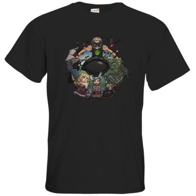 Motiv: T-Shirt Premium FAIR WEAR - Let's Plays - Das Buch Der Abenteuer - Chibi