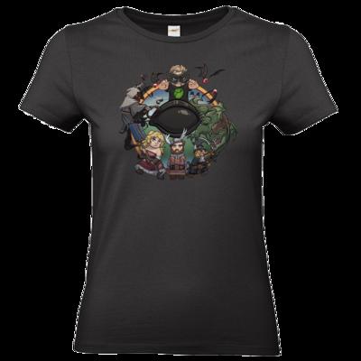 Motiv: T-Shirt Damen Premium FAIR WEAR - Let's Plays - Das Buch Der Abenteuer - Chibi