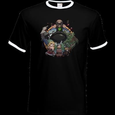 Motiv: T-Shirt Ringer - Let's Plays - Das Buch Der Abenteuer - Chibi