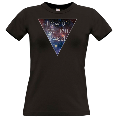 Motiv: T-Shirt Damen Premium FAIR WEAR - High Knee Galaxy