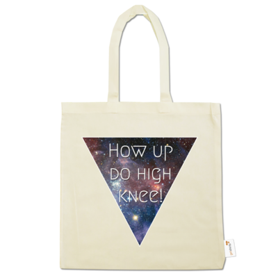 Motiv: Baumwolltasche - High Knee Galaxy