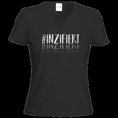 Motiv: T-Shirts Damen V-Neck FAIR WEAR - Inzifiert