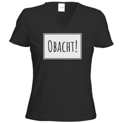 Motiv: T-Shirts Damen V-Neck FAIR WEAR - Obacht