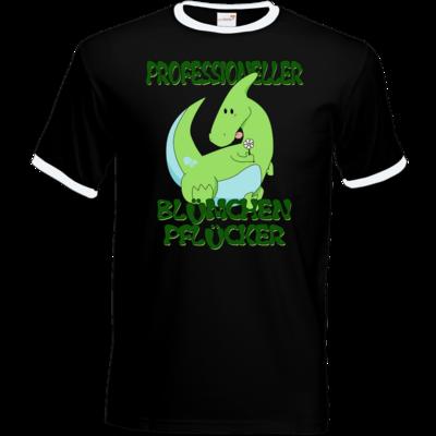 Motiv: T-Shirt Ringer - Bluemchenpfluecker