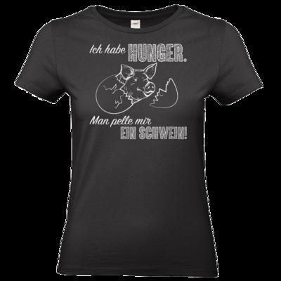 Motiv: T-Shirt Damen Premium FAIR WEAR - Sizzle Brothers - Grillen - Schwein pellen